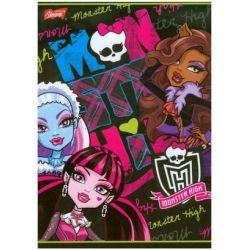 Zeszyt Monster High w kratkę 32 strony A5 mała czaszka