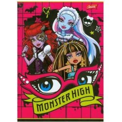 Zeszyt Monster High w trzy linie 16 stron A5 oczy
