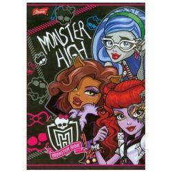 Zeszyt Monster High w trzy linie dwukolorowa 16 stron A5