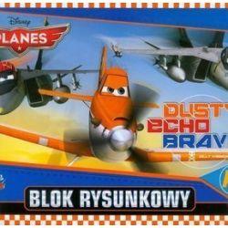 Blok rysunkowy Planes A4 20 kartek Dusty Echo Bravo