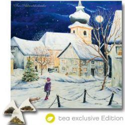 XL Tee-Adventskalender 2014 (48x49cm!) 24 Pyramiden-Beutel, hochwertige Kräuter-, Früchtetees - tea exclusive Edition