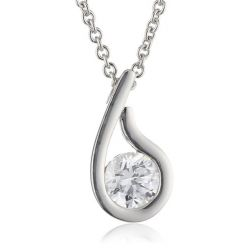 Esprit Jewels Damen-Halskette 925 Sterling Silber solo drop app.42+3cm ESNL92640A420
