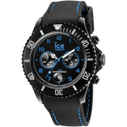 Ice-Watch Herren-Armbanduhr XL Chrono Drift blue Chronograph Quarz Silikon CH.BBE.B.S.14