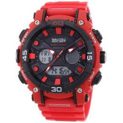 Nautec No Limit Herren-Armbanduhr XL Akula AD Analog - Digital Quarz Plastik AK QZ-AD/PCRDPCBKBK-RD