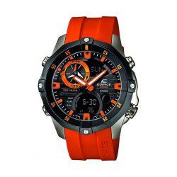 Casio Herren-Armbanduhr XL Edifice Analog - Digital Quarz Edelstahl EMA-100B-1A4VUEF