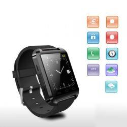 Flylinktech® Fashion U8 Bluetooth 3.0 Smart Watch Touch-Screen-Armbanduhr Uhren Für Android IOS Iphone Samsung Galaxy HTC (Schwarz)