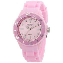 Pastell Rosa Madison New York Candy Time Mini Damen Armbanduhr