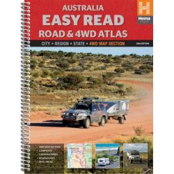 Hema : Australia Easy Read Road and 4WD Atlas by Maps Staff Hema, 9781865006376.