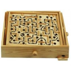 Weiblespiele 340125 - Kugel-Labyrinth aus Holz, 32 x 28 cm
