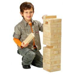 Philos 3310 - Party Wackelturm 60 cm hoch, mit 60 Spielsteinen und Tragetasche