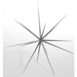 Deko-Woerner Sputnik-Stern silber 40cmØ
