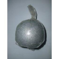 Kerze Kerzen für Weihnachten z.B. Adventskranz Kugelkerze weihnachtliche Kugelkerze Kugel 80 Farbe: Silber Serie: Granit
