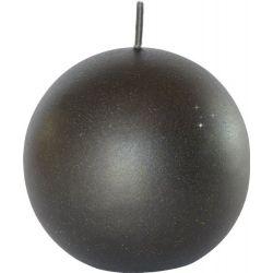 4 Duni Velvet Kugelkerzen schwarz Ø 8 cm, Kugelkerzen schwarz, Duni Kugelkerzen schwarz, Kugelkerze Duni schwarz, Adven