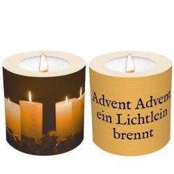 """Windlichtkerze """"Advent Advent ein ..."""""""