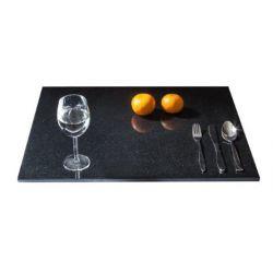 Granit Künchenplatte Arbeitsplatte Servierplatte Küchenarbeitsplatte aus seltenem schwarzen Granit, Naturstein Unikat