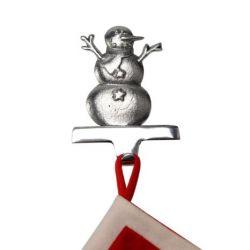Insideretail 800460SILSGN-1 Christmas Stocking Hanger Eisige Schneemann, silber