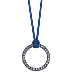Esprit Damen Halskette 925 Sterling Silber rhodiniert Kunststoff Zirkonia brilliance blue 42 cm blau ESNL92477A420
