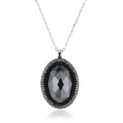 Swarovski Damen Halskette Vita Haematit Palladium Jet Hematite 40 cm schwarz 5008674