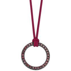 Esprit Damen Halskette 925 Sterling Silber rhodiniert Kunststoff Zirkonia brilliance pink 42 cm rosa ESNL92477B420