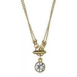 Pilgrim Damen-Halskette Charms vergoldet kristall 45 cm 40121-9006