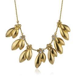 Pilgrim Jewelry Damen Halskette Messing Kristall Clarity Vergoldet 38.0 cm weiß 161342021