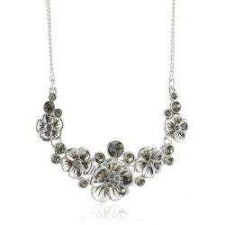 Pilgrim Jewelry Damen Halskette Messing Kristall Hope Versilbert 38.0 cm grau 181346111