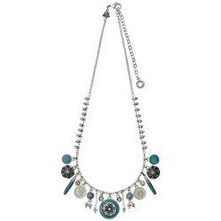 Pilgrim Jewelry Damen Halskette Messing Emaille Boho attraction blau 2414162