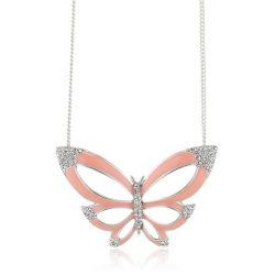 Pilgrim Jewelry Damen-Halskette mit Anhänger aus der Serie Papillon versilbert flamingo 40.0 cm 201316701