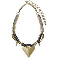 Pilgrim Jewelry Damen Halskette Messing Kunststoff Talisman 10142210