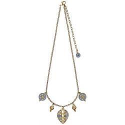 Pilgrim Jewelry Damen Halskette Messing Emaille Bohemian Summer blau 21142222