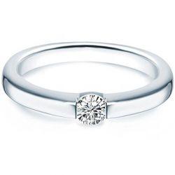 Tresor 1934 Damen-Ring / Verlobungsring / Spannring Sterling Silber rhodiniert Zirkonia weiß 60451022