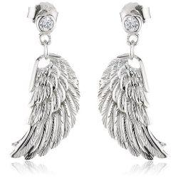 Engelsrufer Damen-Ohrhänger 925 Sterling Silber rhodiniert Flügel klein ERE-W2