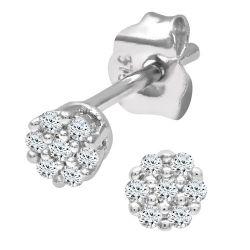 Ariel 9k Weißgold 0,07 Karat Diamant Ohrringe
