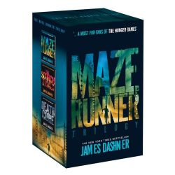The Maze Runner Series Boxed Set, Includes The Maze Runner, The Scorch Trials & The Death Cure in a collectible slipcase by James Dashner, 9781909489752.