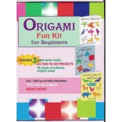 "Origami Fun Kit for Beginners, ""Birds in Origami"", ""Easy Origami"", ""Favorite Animals in Origami"" by Dover, 9780486432922."