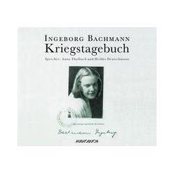Hörbuch: Kriegstagebuch  von Ingeborg Bachmann
