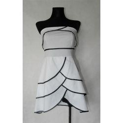 biała sukienka z falbankami (S/M/L)