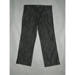 spodnie 3/4 w srebrne prążki  ZARA  (40)