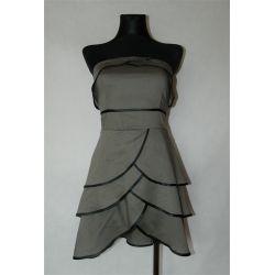 asymetryczna sukienka z falbankami (S/M/L)