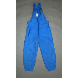 ciepłe spodnie ogrodniczki, sanki, narty (110/116)