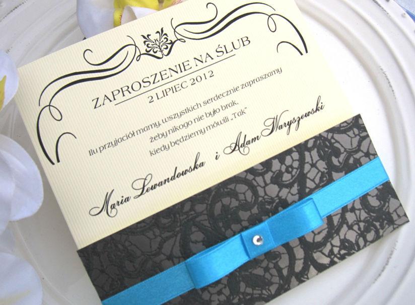 Sweet Zaproszenia ślubne Królewska Koronka I Na Bazarekpl