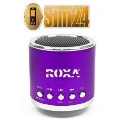 Przenośny głośnik zewnętrzny z MP3 i radiem - fiol