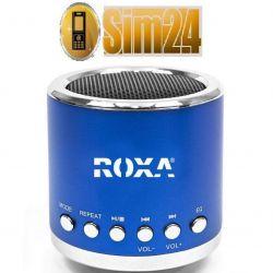 Przenośny głośnik zewnętrzny z MP3 i radiem - nieb