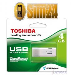 TOSHIBA HAYABUSA USB 2.0 4GB - WHITE