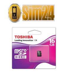 TOSHIBA karta pamięci micro SD 16GB +1AD SDHC