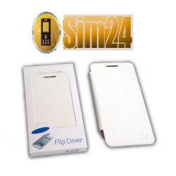 Flip Cover Samsung GALAXY ADVANCE/i9070/whit /blis