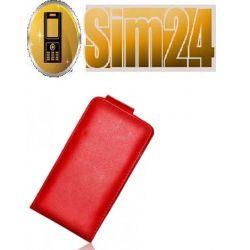 Kabura pionowa Samsung i9070 ADVANCE czerwona