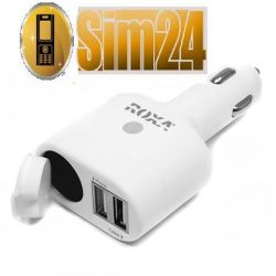 Ładowarka samochodowa ROXA 3in1 USB 2.1A