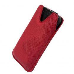 Etui na telefony Milano Lumia 800, One X - czerwon