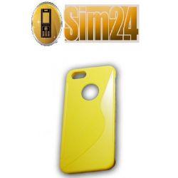 pokrowiec na LG G2 żółty